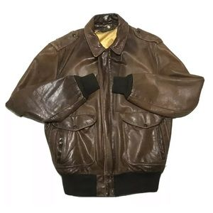 Vintage SCHOTT Leather Jacket Bomber  Sz 44 large